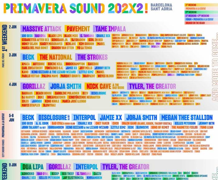Festival Primavera Sound 2022 | Barcelona - Sant Adrià