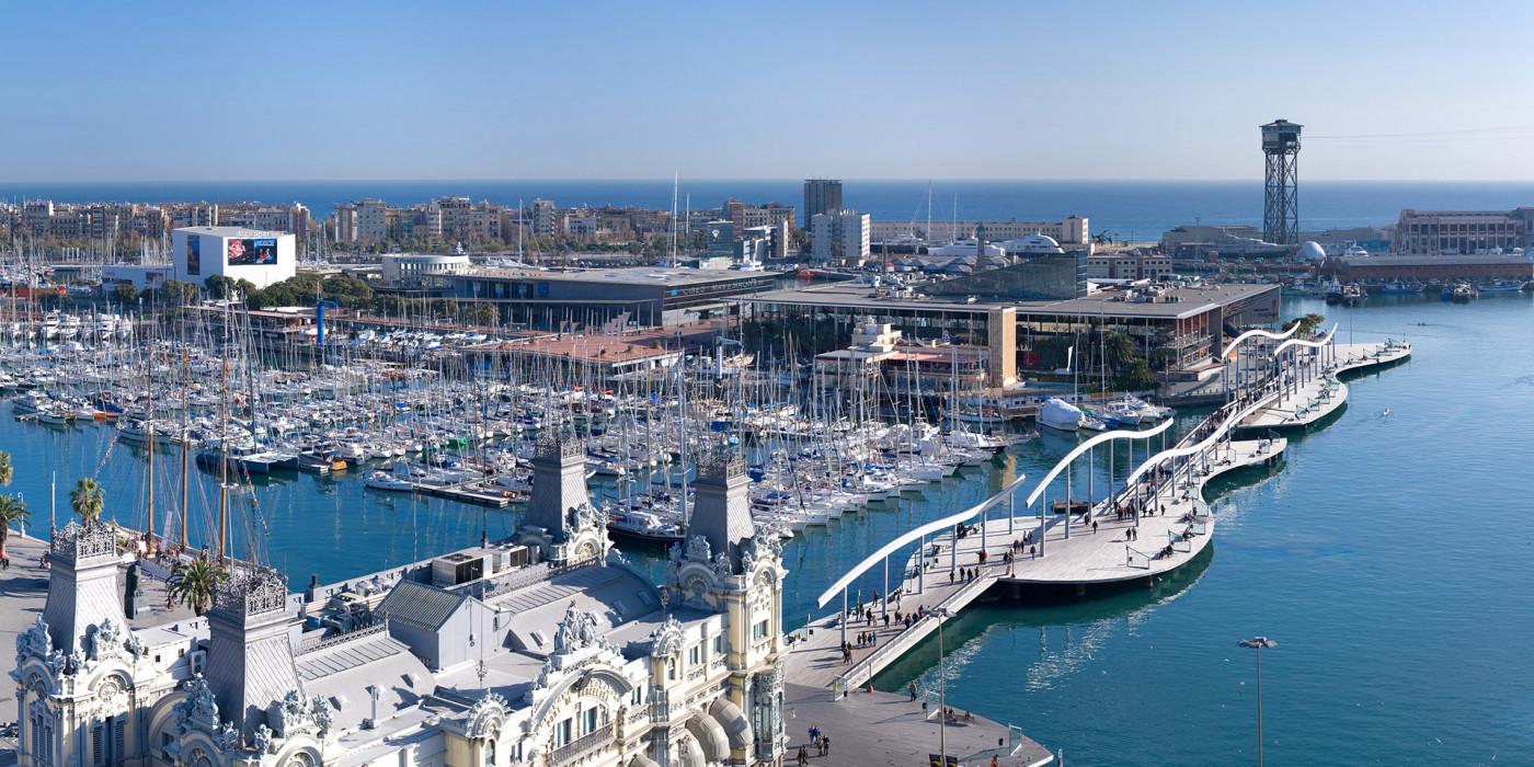 Terminal van de cruisehaven van Barcelona ...